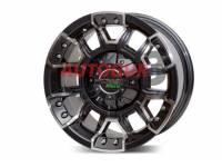 Диск колесный литой BLACKOUT черно-серебристый 5x139.7 8xR15 d108.2 ET 0 PDW