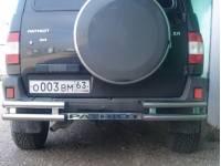 Защита заднего бампера ТП на УАЗ Патриот 02